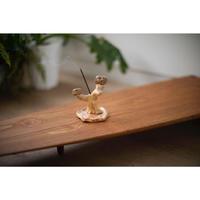 ヒラパー・ウィルソン 陶器のお香立て(木)