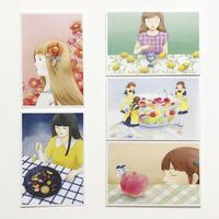 1「月夜と果実」ポストカード(5枚セット)