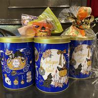 【ハロウィン限定】パンプキンナイトのお菓子缶