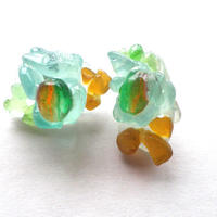【SALE】20%OFF ガラスあめ玉ピアス
