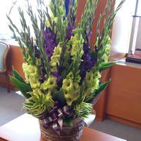 2021母の日【グローワーズ・セレクト L】~鮮度Max!生産者から直送のユリ・グラジオラスと枝ものの花束~4月30日までの完全予約制