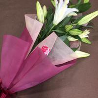 【Bunch of Lilies  M】ユリを5本束ねました!4つまで同梱包可能です! 人気商品