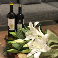 Bunch of  lilies &wine Set 【ギフト】20歳未満の方の飲酒は法律で禁止されています