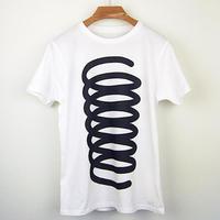 発条(ばね)図Tシャツ/スリムシルエット