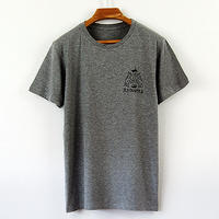 印図Tシャツ_鼠/スリムシルエット