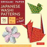 "Origami Paper - Japanese Washi Patterns - 6""- 96 Sheets"