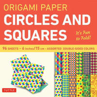 "Origami Paper 6"" Circles and Squares"