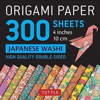 """Origami Paper Japanese Washi 4"""" 300"""