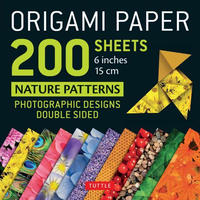 """Origami Paper Nature Patterns 6""""200s"""