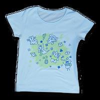 """sasakure.UK - """"Atama Bikkuri""""  T-shirt(Sherbet blue  Women's)"""