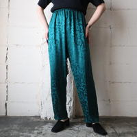 Shadow Leaf Pattern Satin Pants GN