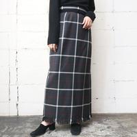 Plaid Long Tight Skirt GRWHRE