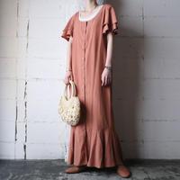 Sleeve Hem Frilled Dress OR