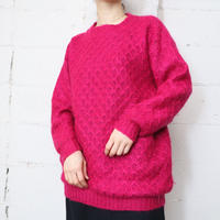 Mohair Mix Pattern Sweater PI