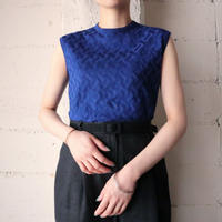EURO Sleeveless Pattern Knit BL