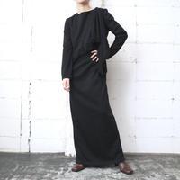 Asymmetric Fringe Design Dress BK