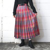 Check Pleated Skirt PIGR