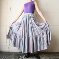 Stripe Tiered Skirt BLRE
