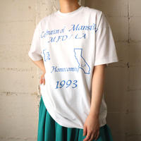 ''Homecoming1993'' Print T Shirt WH