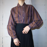 Double Breasted Check Blouse BRNV