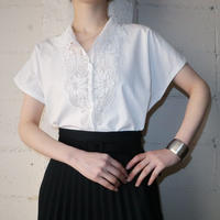 60's EURO French Sleeve Lace Blouse WH