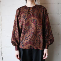 Paisley Collarless Blouse BR