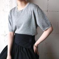 Short Sleeve Glitter Knit SV
