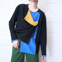 Tricolor Silk Blouse BKBLYE