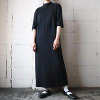 Mock Neck Short Sleeve Sweat Dress BK