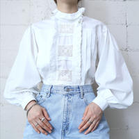 Lace×Tuck Bodice Blouse WH