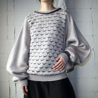 Volume Sleeve Pattern Sweater BEBR
