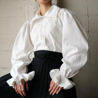 Double Collar&Pin Tuck Sleeve Blouse IV