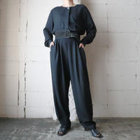 Collarless Jumpsuit BK