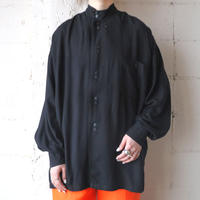 Double Brested Stand  collar Blouse BK