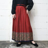 Small Pattern × Paisley Pleated Skirt RE