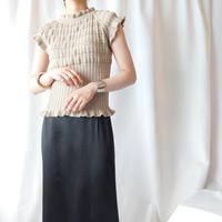 Shirring French Sleeve Knit BE