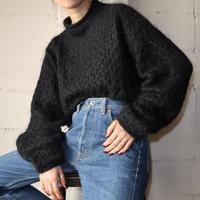 Mock Neck Mohair Sweater BK