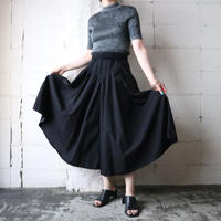 Tuck Flared Skirt BK