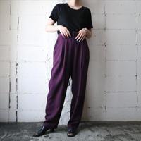 Basic Tuck Pants PUR