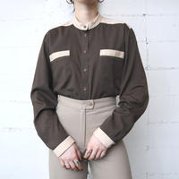 Bicolor Band Collar Shirt BRBE