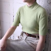 Mock Neck Rib Knit