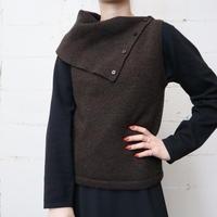 Turnover Collar Knit Vest DBR