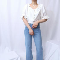 Volume Sleeve Tyrolean Blouse WH