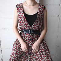 Flower Pattern Jumper Skirt BKRE