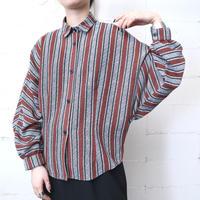 Stripe Dolman Sleeve Blouse BKBRWH