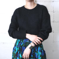 Angora Mix Crewneck Sweater BK