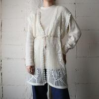 Drawstripe Knit Vest WH