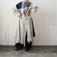 Big Silhouette Panel Linen Coat BE