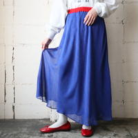 Bicolor Flared Skirt BLRE