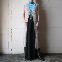 Crochet Knit Long Cardigan BE